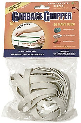 Garbage Gripper 6 Pack (3 Small and 3 Large Bands)