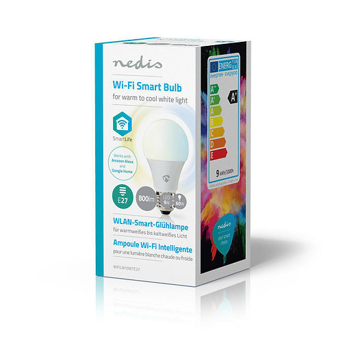Ampoule SmartLife NédisWi-Fi | E27 | 800 lm | 9 W | WIFILW13WTE27