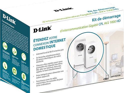 Kit CPL AV2 1000 HD Gigabit prise intégrée D-LINK