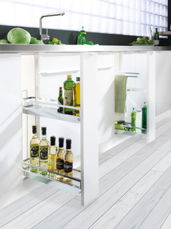 150 2 TIER PULL OUT & TOWEL RAIL