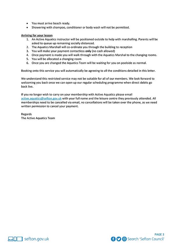 Active Aquatics Restricted Service Adult