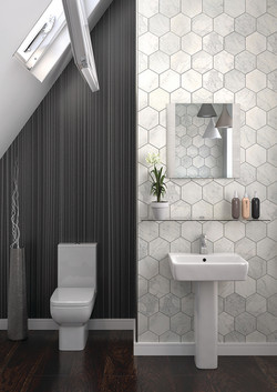 Nova - modern bathroom in Surrey