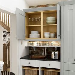 Ashbourne Dove Grey and chalk White dresser Detail