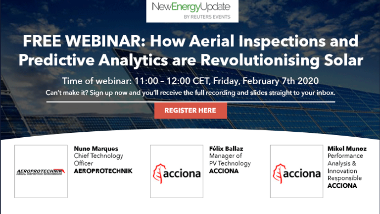 Webinar – 'How Aerial Inspections and Predictive Analytics are Revolutionising Solar'