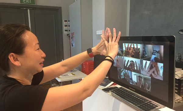 Signing off virtually with a new gesture
