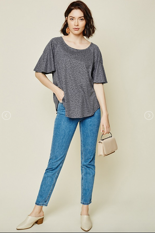 Leopard Relaxed Tee