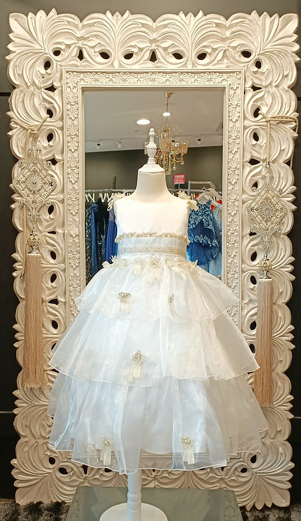JANA white gold dress