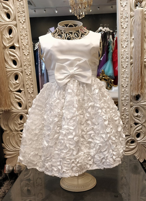 EVERLEY White Bow Baby Dress