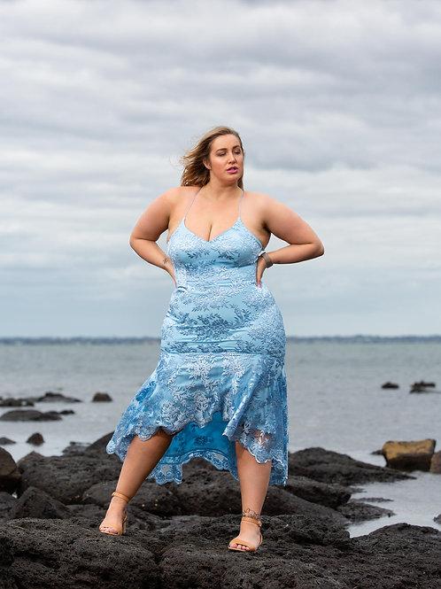 Belinda  Dusty Blue Midi dress