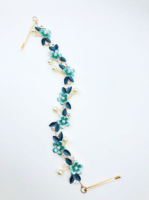 Floral Garland Teal Green