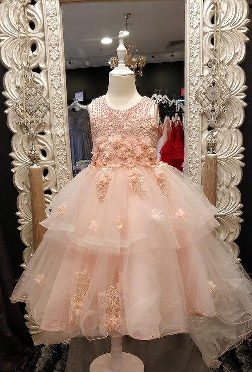 NATALY peach dress