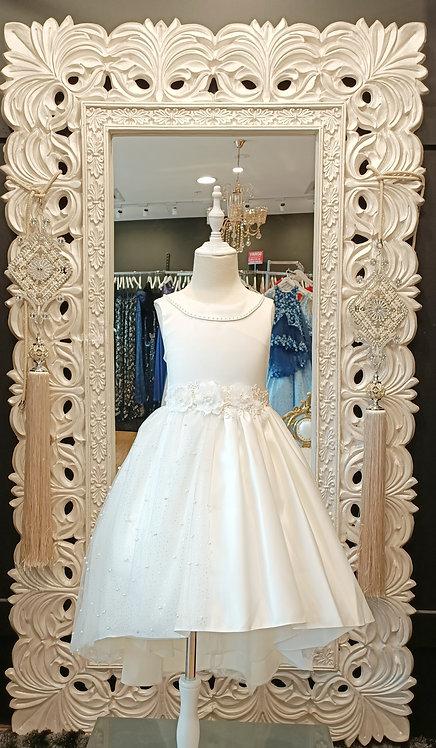 One Side White Glitter Dress