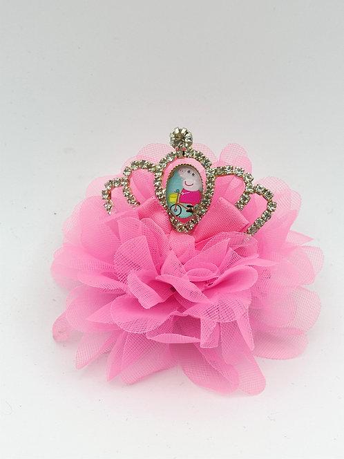 Peppa crown hair clip DARK PINK