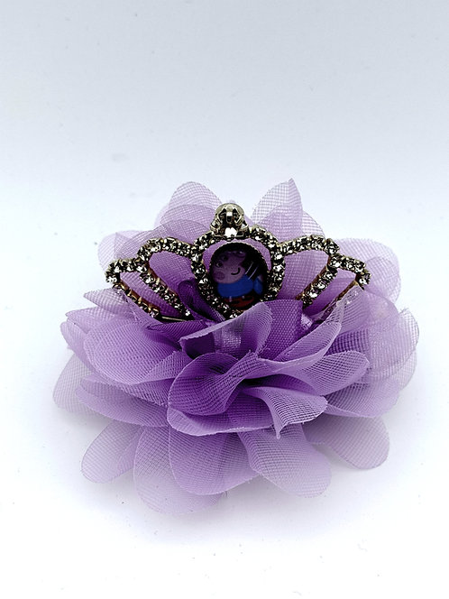 Peppa crown hair clip PURPLE