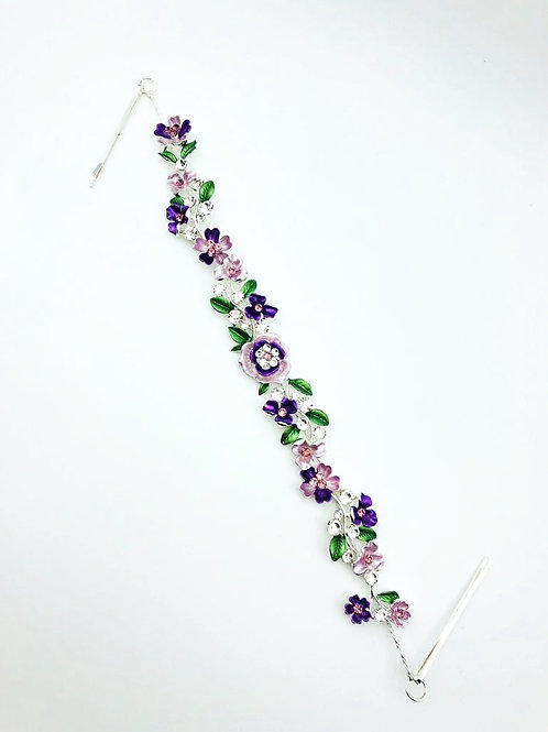 Floral Garland Small Flowers- Purple