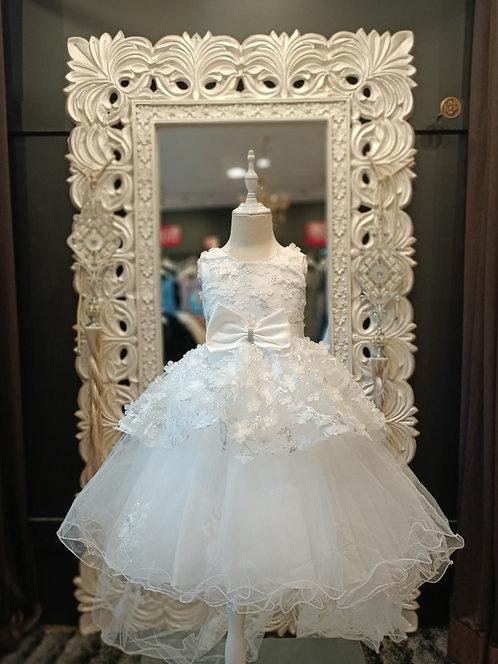 SIENNA High Low White Dress