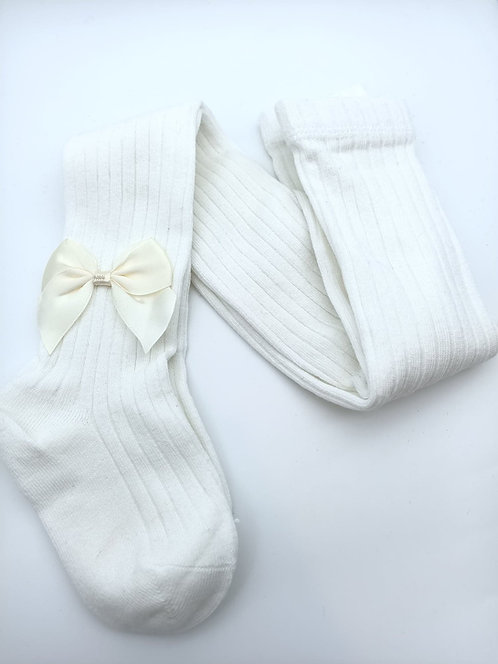 White Stocking with a Bow