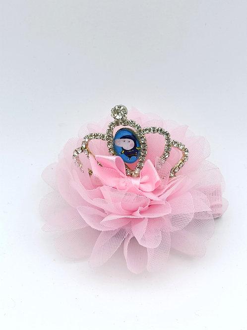 Peppa crown hair clip PINK