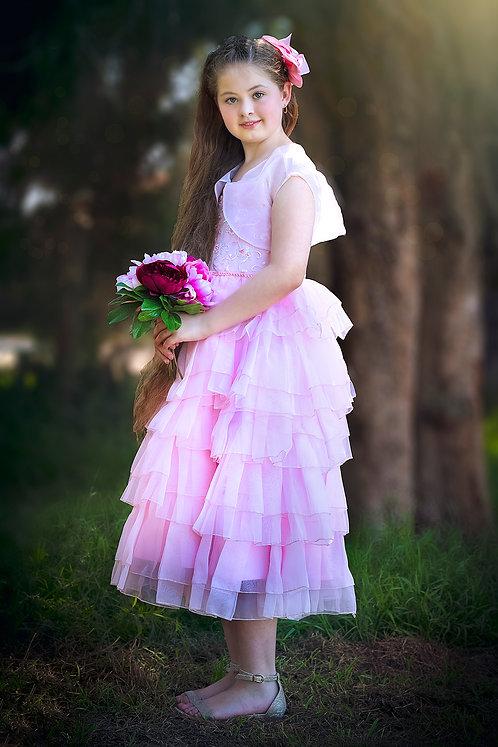 Anna Pink Ruffle Dress