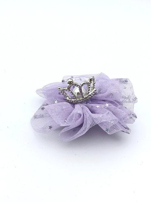 Crown diamante hair clip Lavender