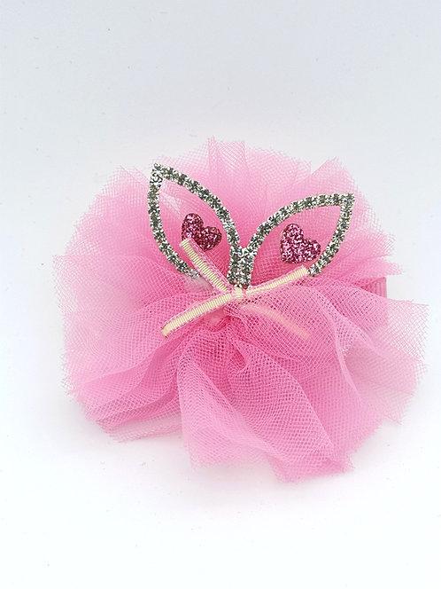 Cat ear diamante Hair clip PINK