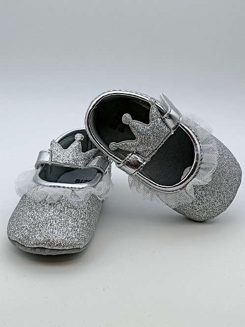 Silver kids shoes
