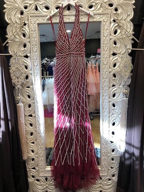 Diamanté backless dress