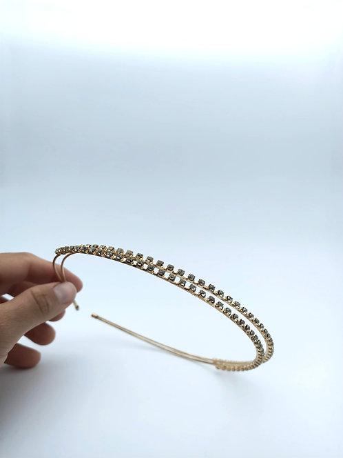 Gold diamond kids headband