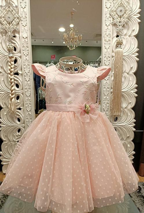 VADA Dots peach Dress
