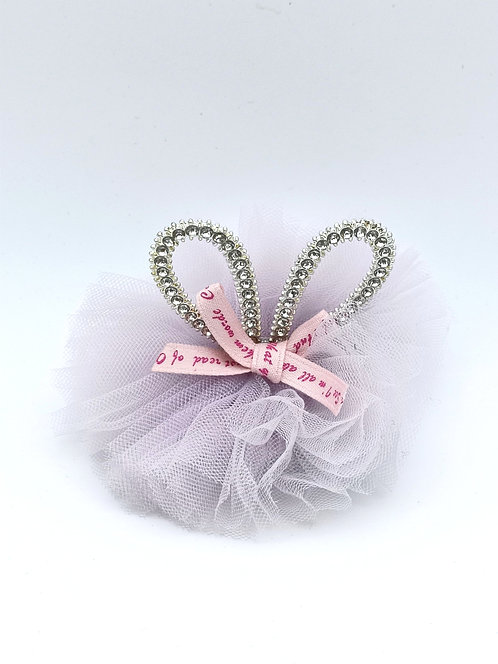 Bunny ear diamante Hair clip Lavender