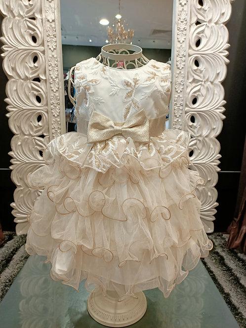 Aranza Sequin & Ruffle Dress