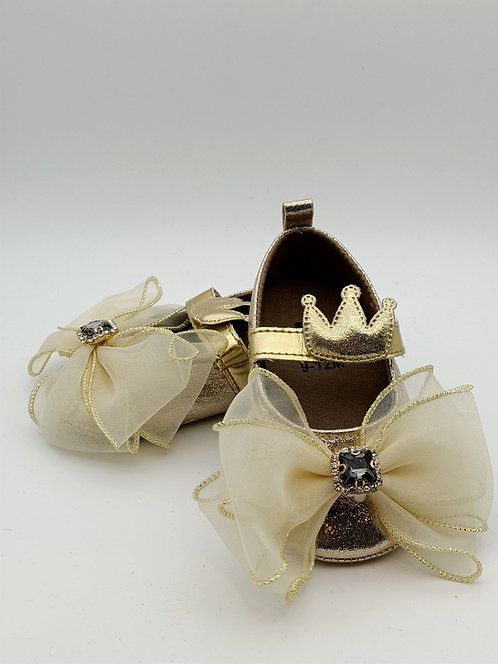 Champagne Bow shoes
