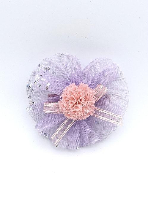 Silver Glitter hair clip Lavender