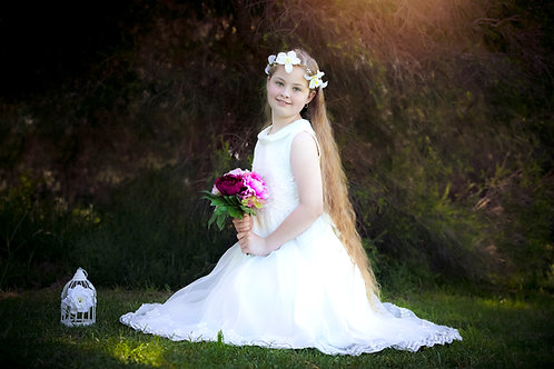 MALANI Ivory Flower girl Dress