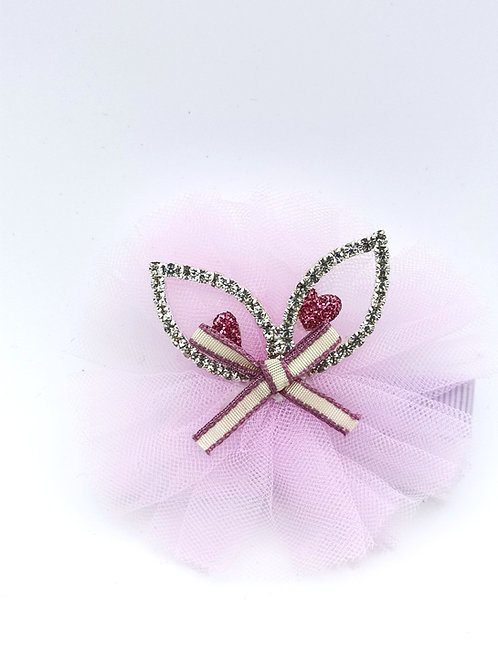 Cat ear diamante Hair clip Lavender
