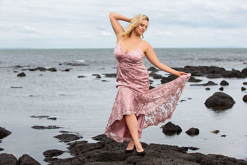Belinda  Dusty Pink Midi dress
