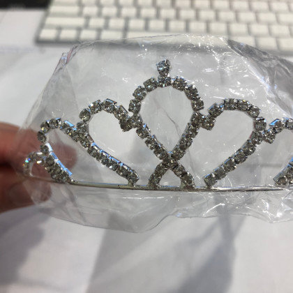Silver diamond TIARA headband