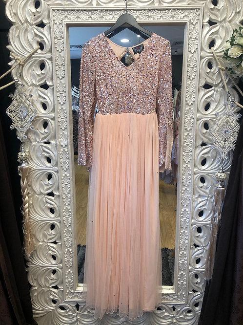 Claire  Blush Long sleeve dress