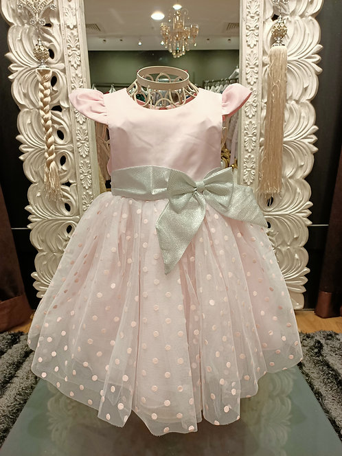 KAYA Dot Pink Dress