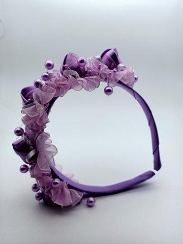Purple Floral kids headband