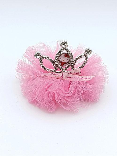 Hello kitty princess hair clip Pink