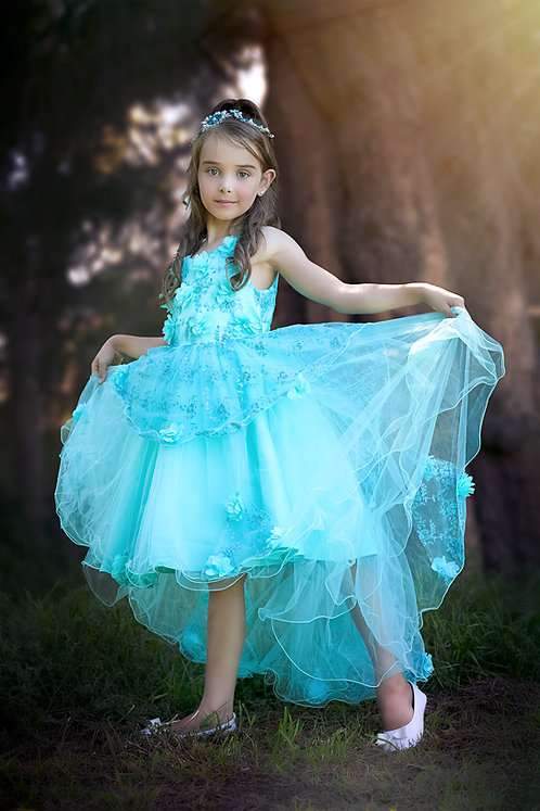 OPAL Mint High-Low Dress