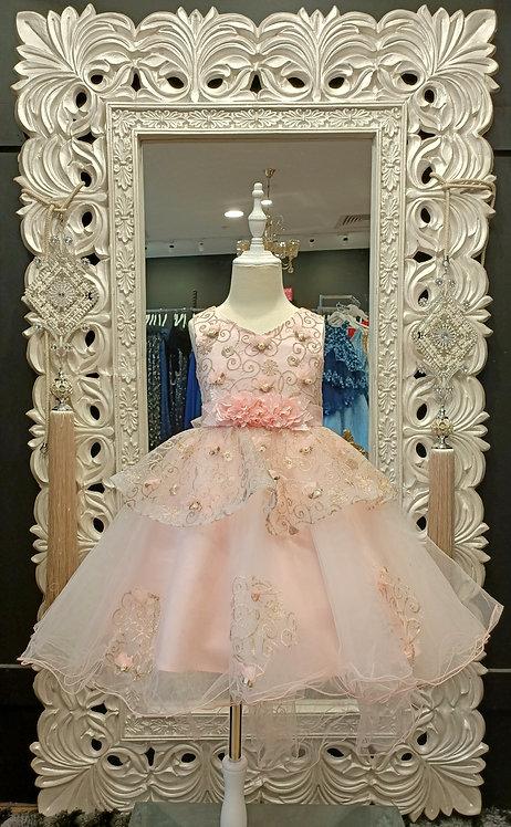 HOLLY High Low Blush Dress