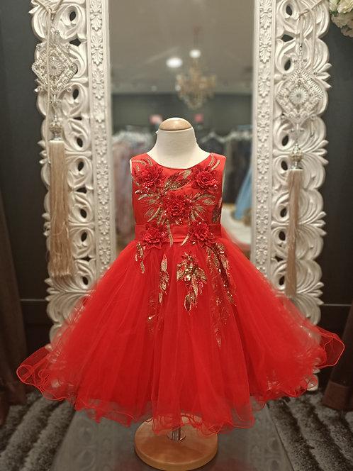 Alora Red Dress