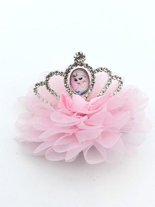 Elsa puffy Hair clip BABY PINK