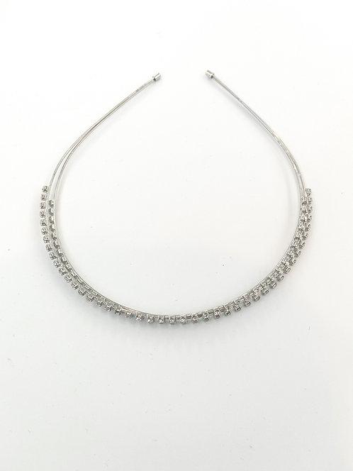 Silver diamond kids headband