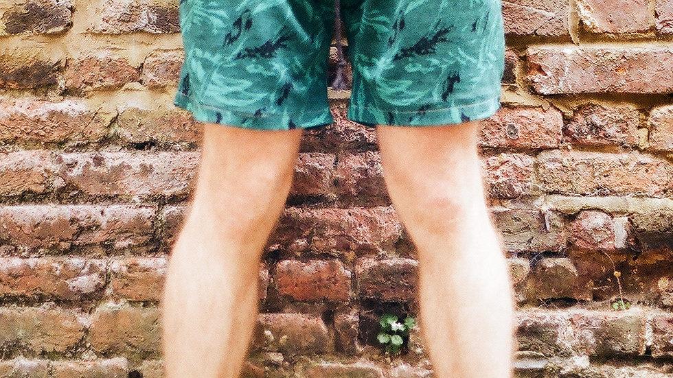 Jade Abstract Shorts