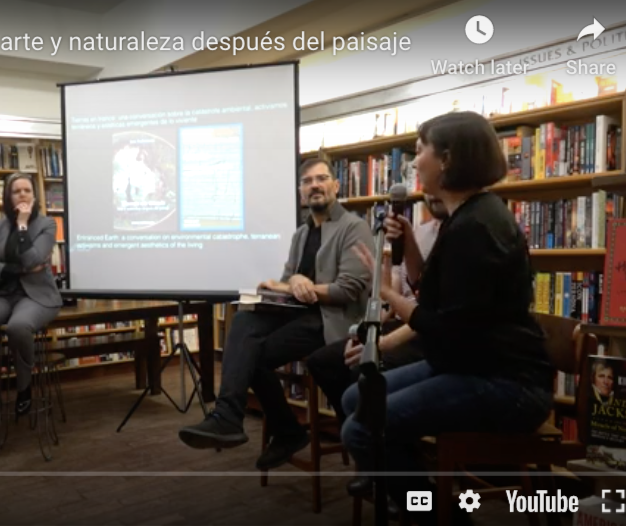 Tierras en trance. Arte y naturaleza después del paisaje - Jens Andermann (moderator at book's launch at McNally Jackson, New York City)