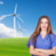 Dokter bij windmolens