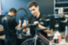 Mechanics servicing bikes in Mount Gravatt, Brisbane